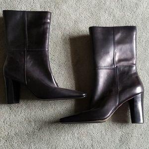 NWOT Anne Klein Sz 10 black leather boots